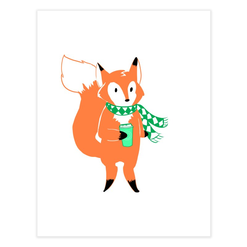 Holiday Like a Fox Home Fine Art Print by ArtemisStudios's Artist Shop
