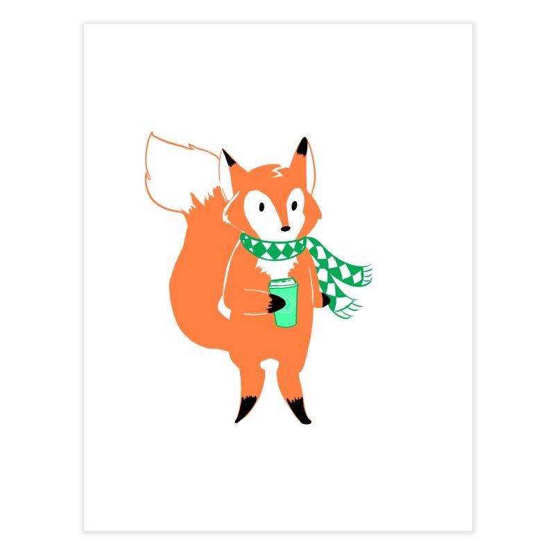 Holiday Like a Fox Home Fine Art Print by ArtemisStudios's Artist Shop
