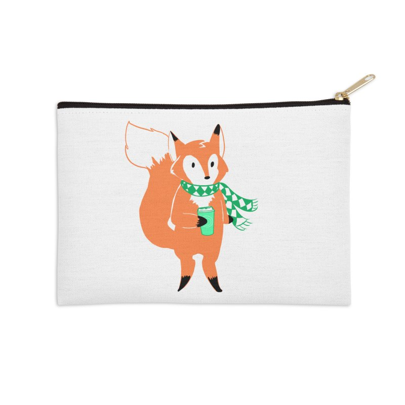 Holiday Like a Fox Accessories Zip Pouch by ArtemisStudios's Artist Shop