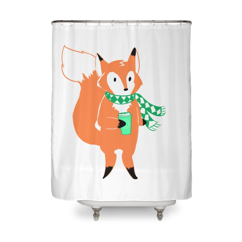 Holiday Like a Fox Home Shower Curtain by ArtemisStudios's Artist Shop