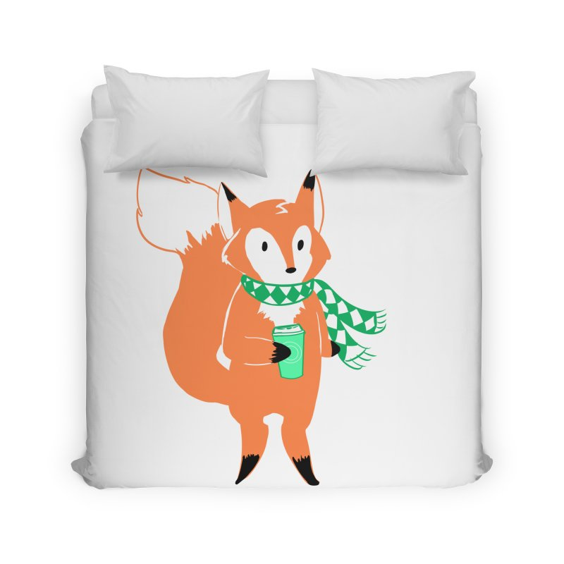 Holiday Like a Fox Home Duvet by ArtemisStudios's Artist Shop