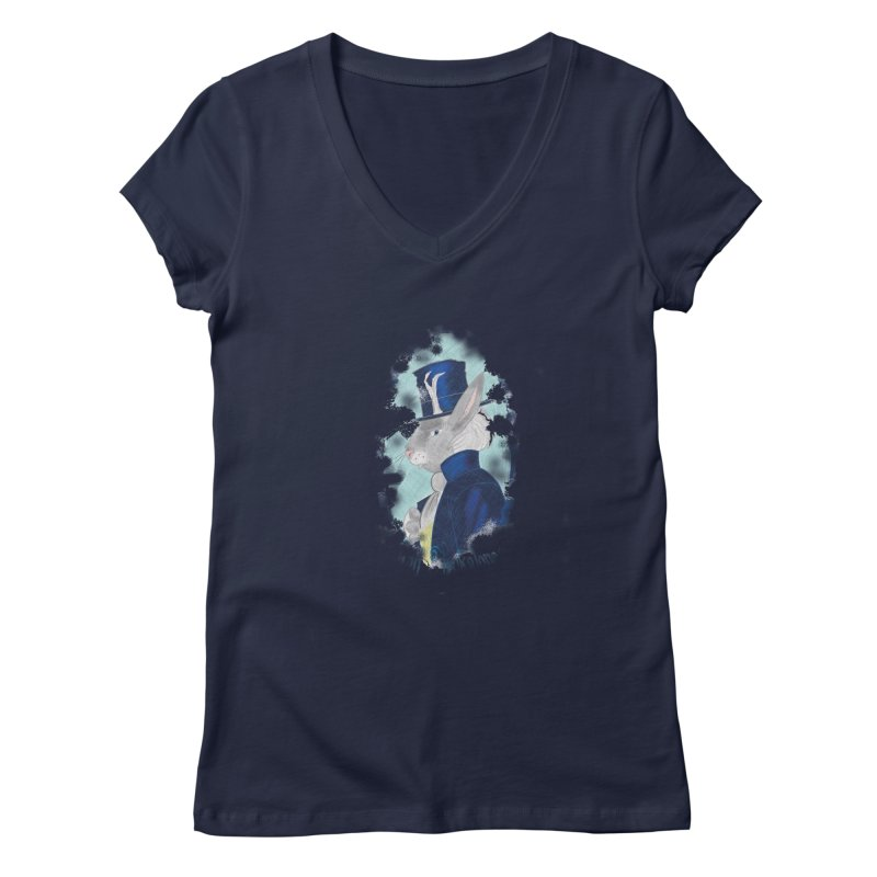 Lord Jackalope Women's Regular V-Neck by ArtemisStudios's Artist Shop