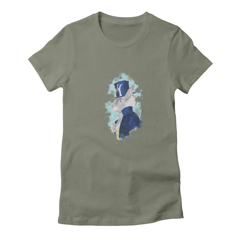 Lord Jackalope Women's Fitted T-Shirt by ArtemisStudios's Artist Shop