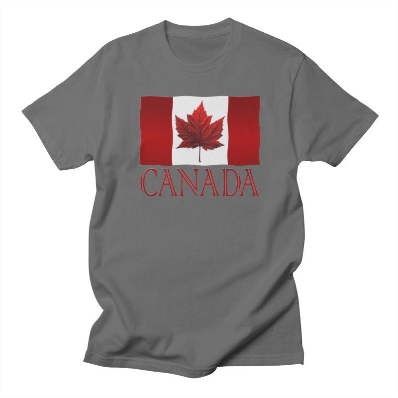 Canada Flag Souvenirs Men's T-Shirt by Artist Designer Kim Hunter's Threadless Shop