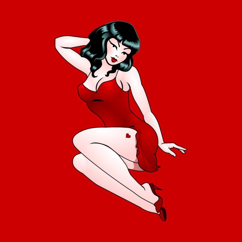 Pinup Girl Retro Tattoo Pin Up Girl by Artist Designer Kim Hunter's Threadless Shop