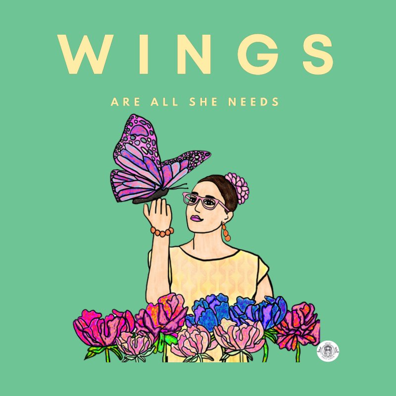 Wings Are All She Needs Women's T-Shirt by Emily Lupita's Artist Shop
