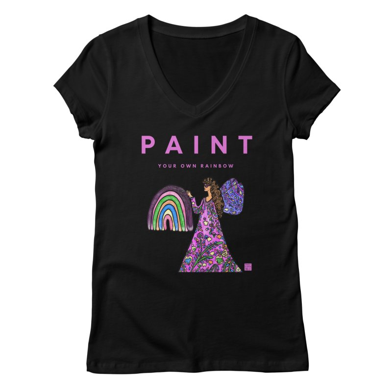 Paint Your Own Rainbow Women's V-Neck by Artist Emily Lupita's Shop
