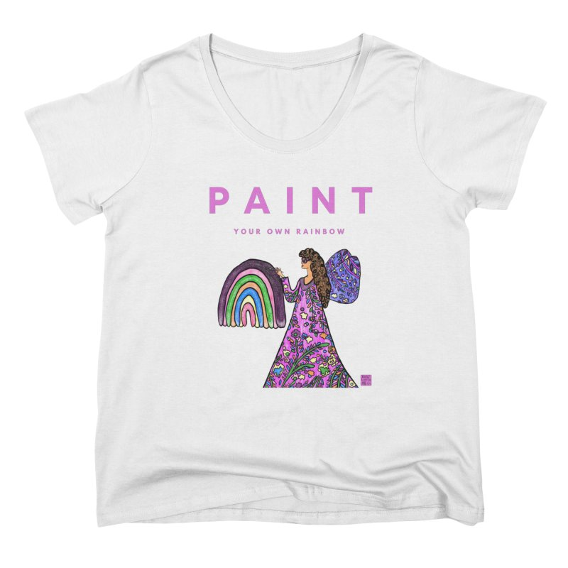 Paint Your Own Rainbow Women's Scoop Neck by Artist Emily Lupita's Shop