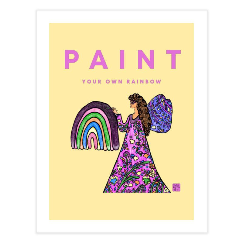 Paint Your Own Rainbow Home Fine Art Print by Artist Emily Lupita's Shop