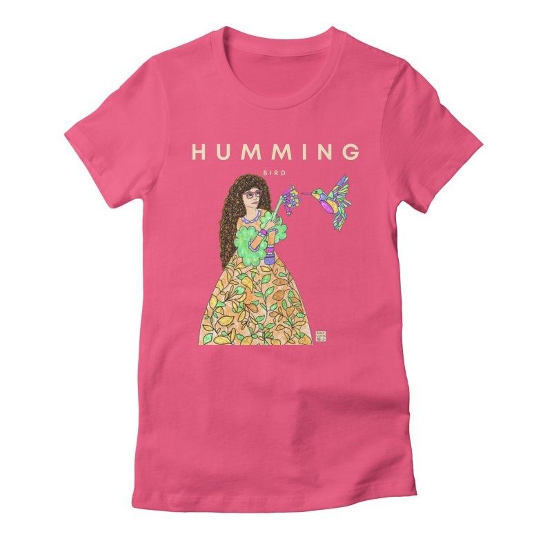 Humming Bird Women's T-Shirt by Emily Lupita's Artist Shop
