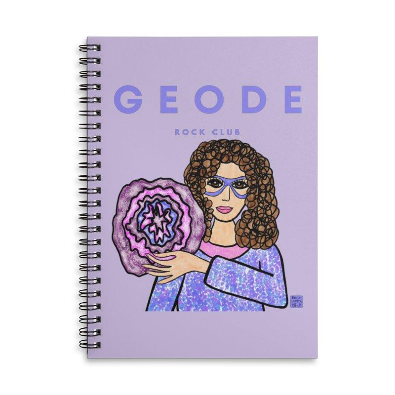Geode Rock Club Accessories Notebook by Artist Emily Lupita's Shop