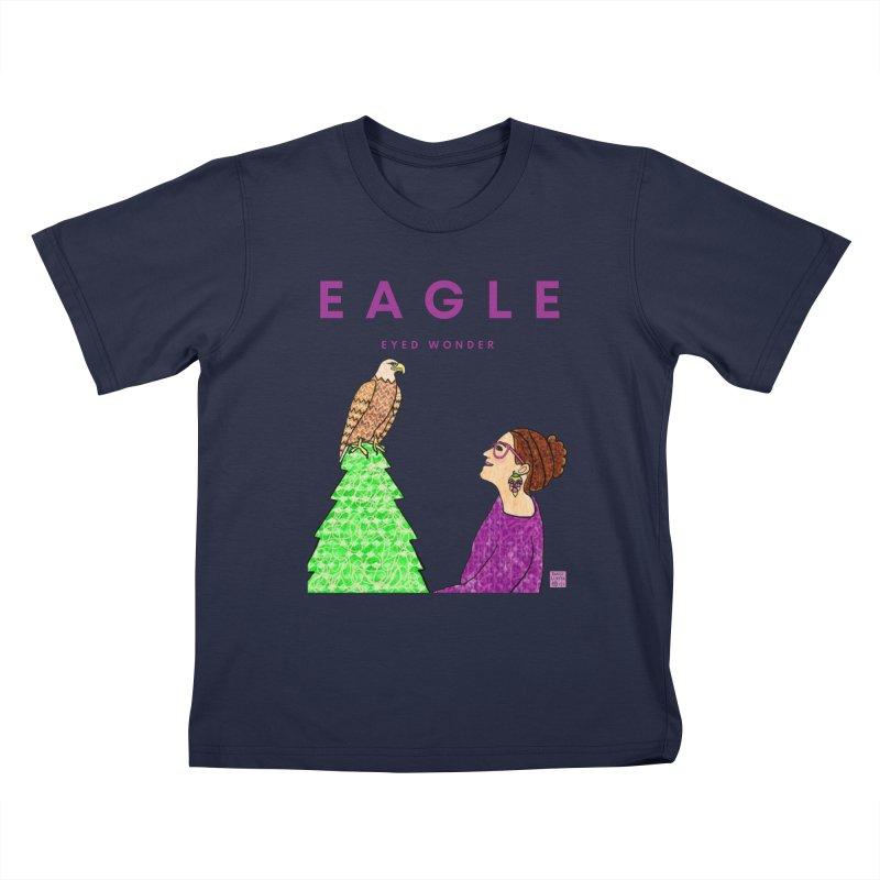 Eagle Eyed Wonder Kids T-Shirt by Artist Emily Lupita's Shop