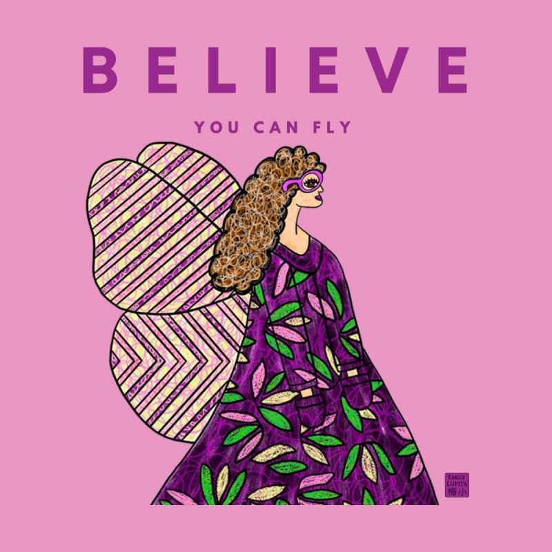 Believe You Can Fly Accessories Notebook by Artist Emily Lupita's Shop