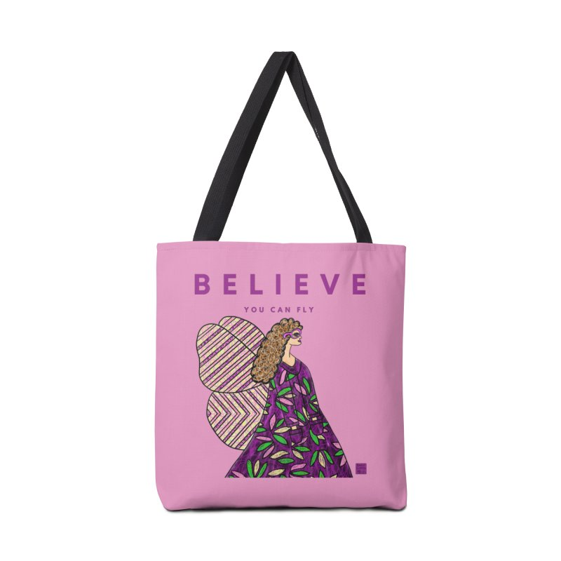 Believe You Can Fly Accessories Bag by Artist Emily Lupita's Shop