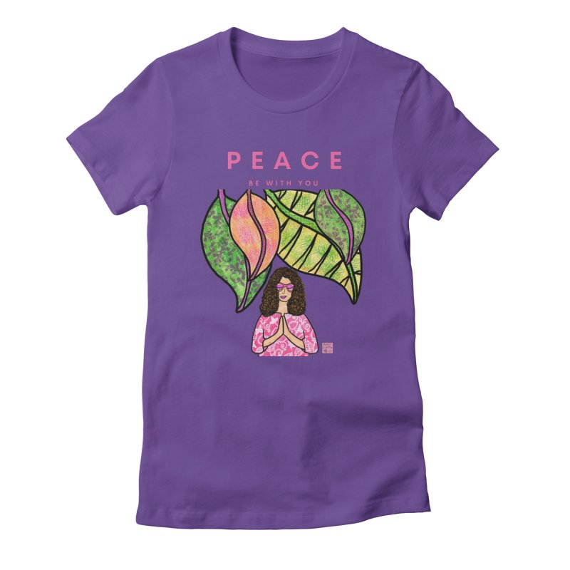Peace Be With You Women's T-Shirt by Emily Lupita's Artist Shop