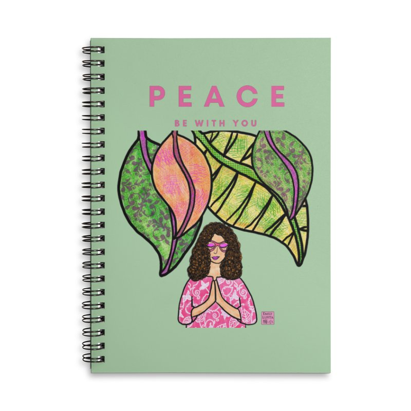 Peace Be With You Accessories Notebook by Artist Emily Lupita's Shop