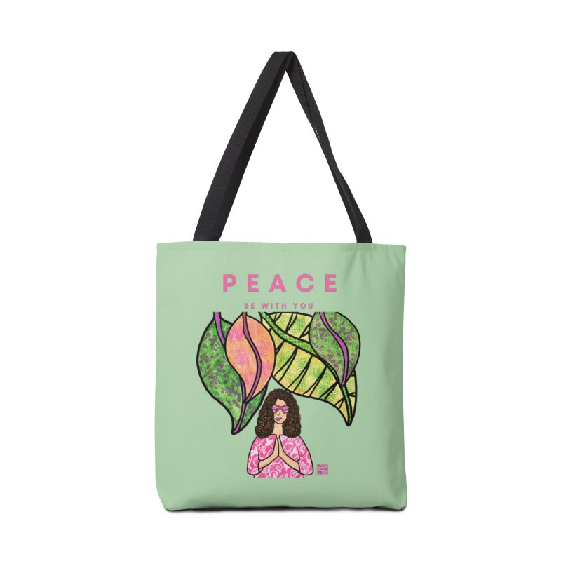 Peace Be With You Accessories Bag by Artist Emily Lupita's Shop