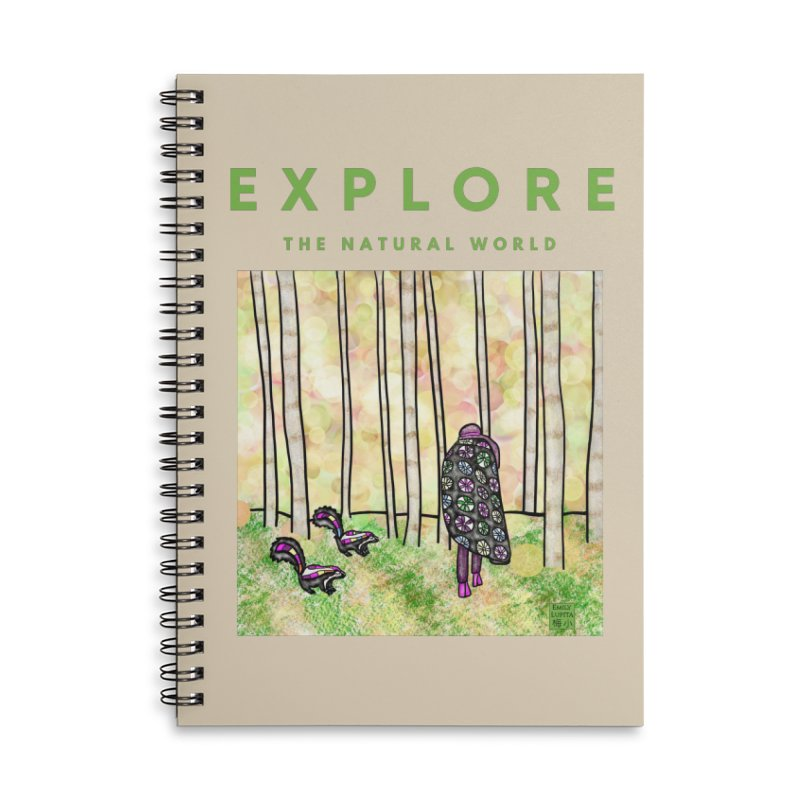 Explore the Natural World Accessories Notebook by Artist Emily Lupita's Shop