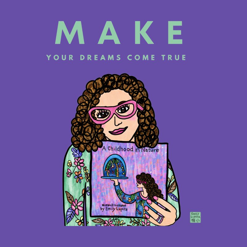 Make Your Dreams Come True Accessories Notebook by Artist Emily Lupita's Shop
