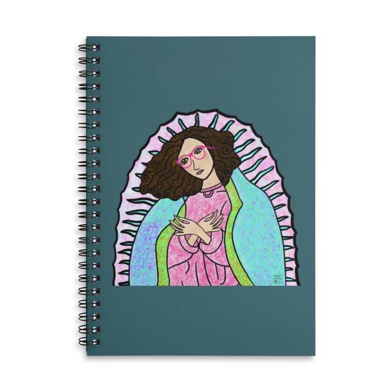 Guadalupe Series- Lupita Watches the Sunrise Accessories Notebook by Artist Emily Lupita's Shop