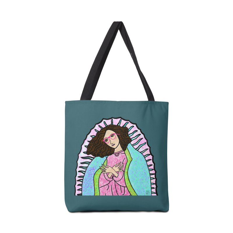 Guadalupe Series- Lupita Watches the Sunrise Accessories Bag by Artist Emily Lupita's Shop
