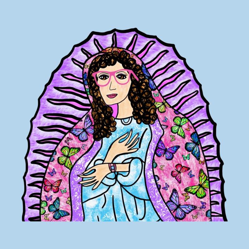 Guadalupe Series - Lupita with Mariposas Kids T-Shirt by Artist Emily Lupita's Shop
