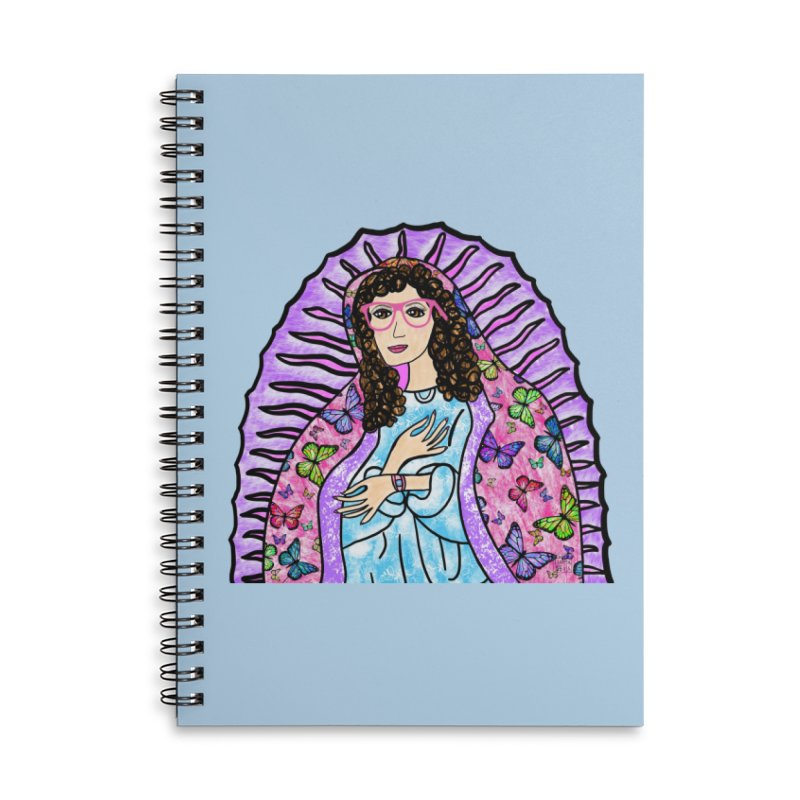 Guadalupe Series - Lupita with Mariposas Accessories Notebook by Artist Emily Lupita's Shop