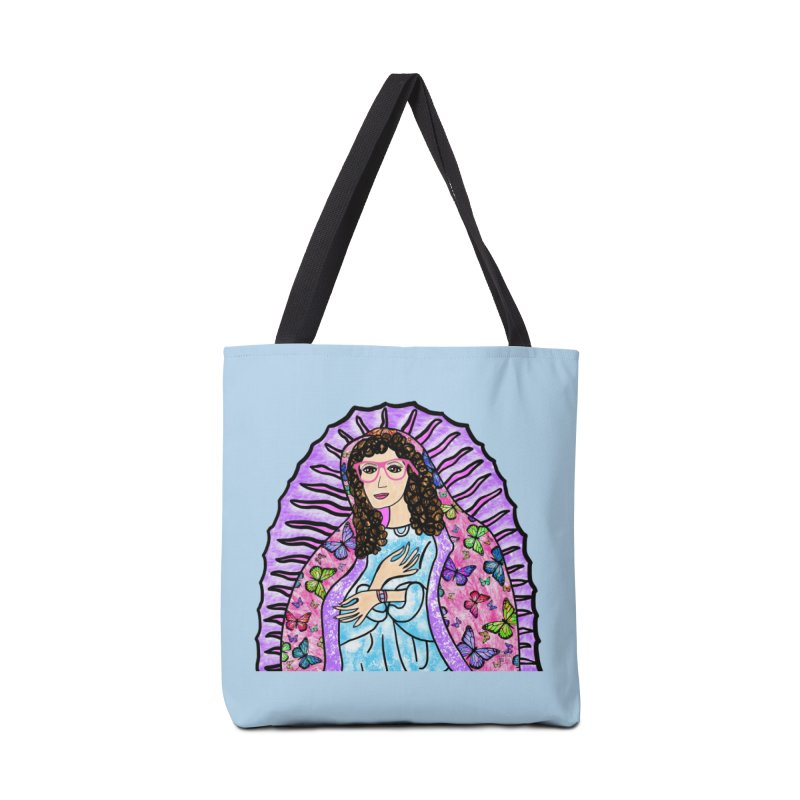 Guadalupe Series - Lupita with Mariposas Accessories Bag by Artist Emily Lupita's Shop