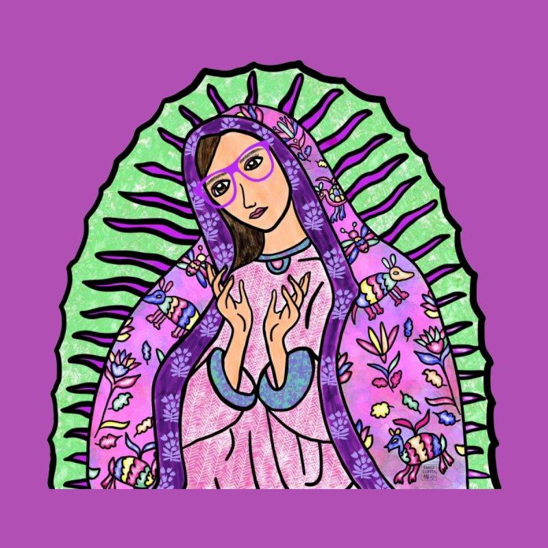 Guadalupe Series -  Lupita Wears Otomi Embroidery Women's T-Shirt by Artist Emily Lupita's Shop