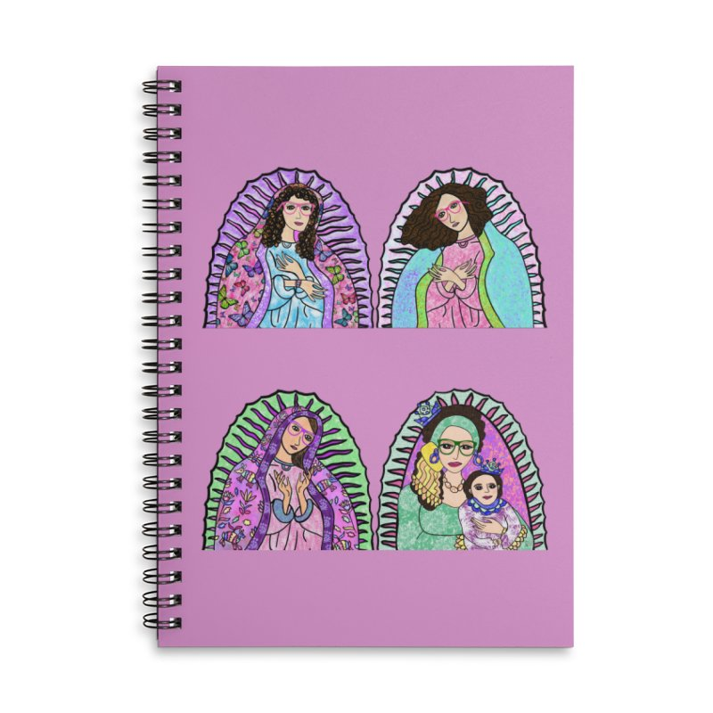 Guadalupe Series - 3 Wise Grandmothers Accessories Notebook by Artist Emily Lupita's Shop