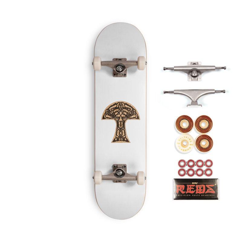 Celtic Mushroom Accessories Skateboard by Artistfire Studios