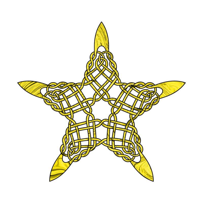 Celtic 5 pointed Star Men's T-Shirt by Artistfire Studios