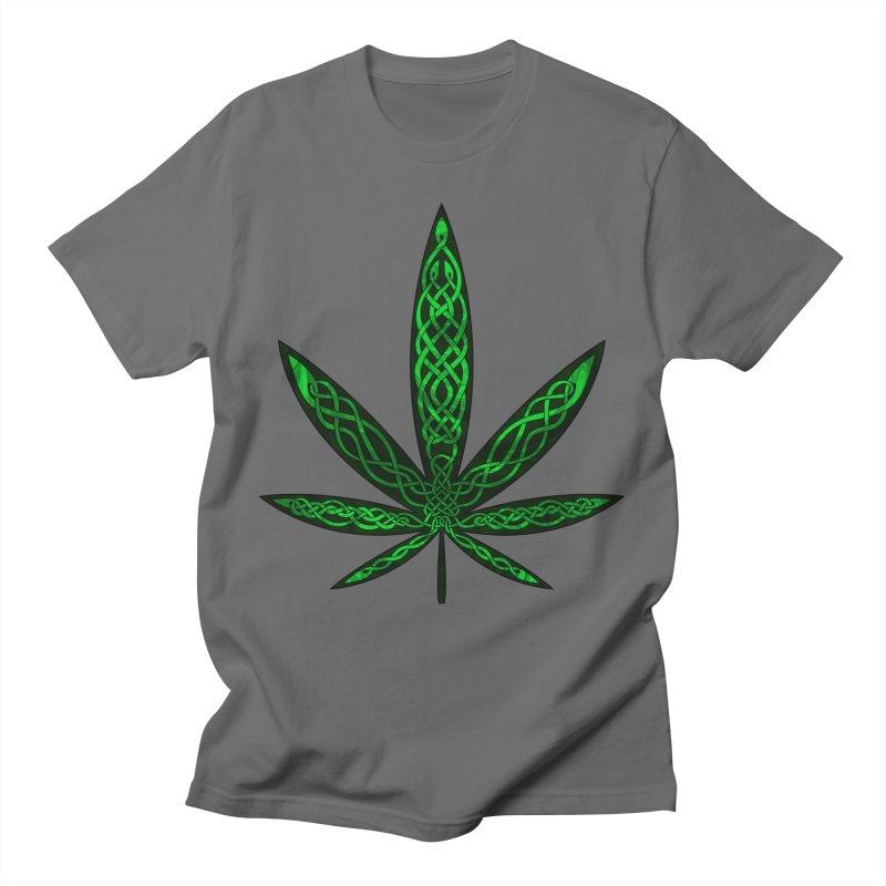 Celtic Cannabis Leaf #1 Men's T-Shirt by Artistfire Studios