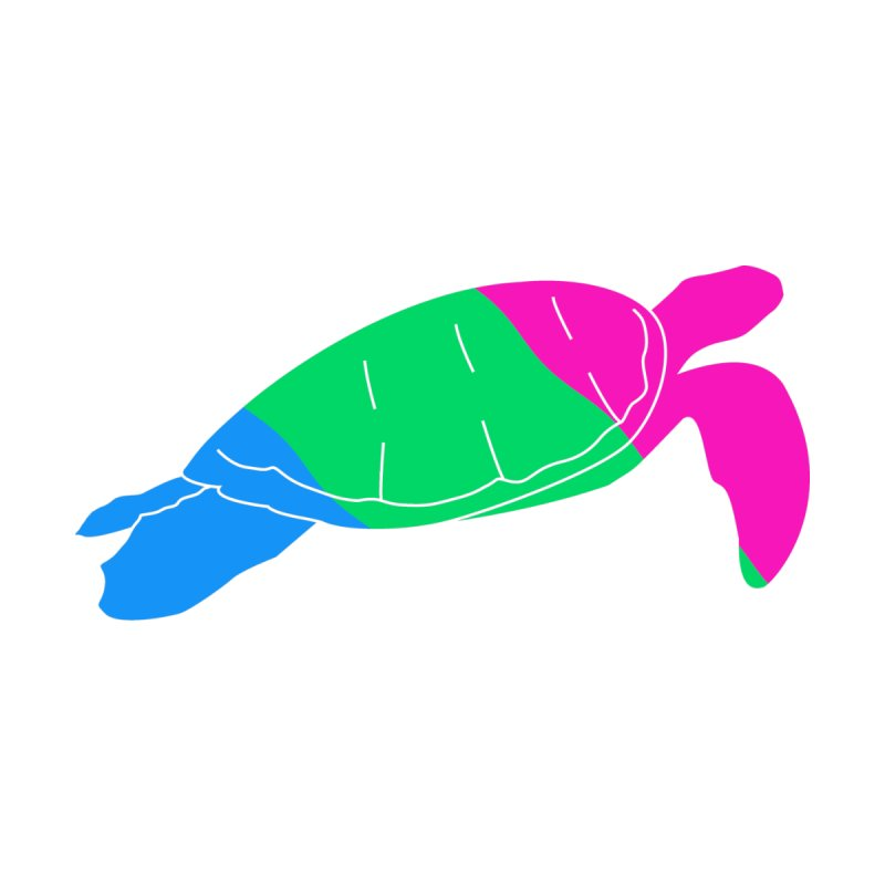 Polysexual Pride Turtle Men's T-Shirt by Artistfire Studios