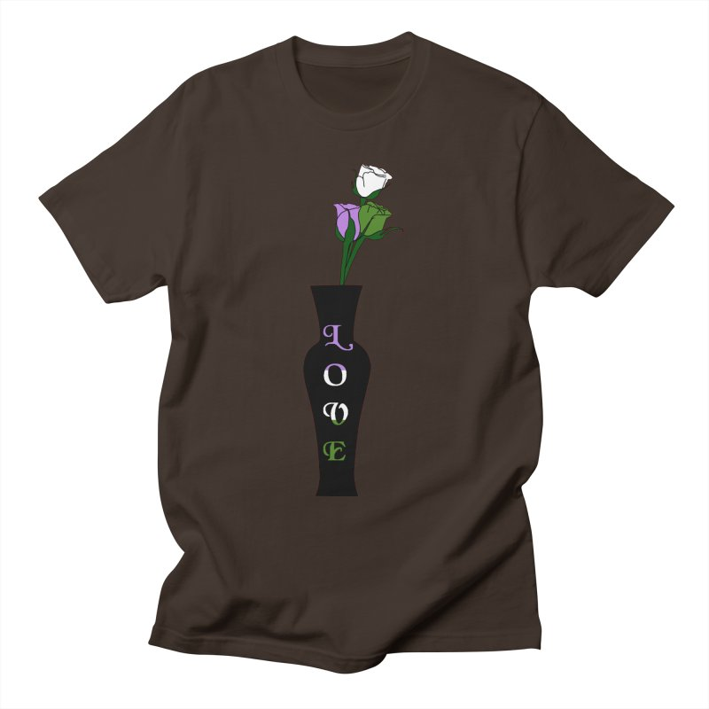 Genderqueer Pride Roses Men's T-Shirt by Artistfire Studios