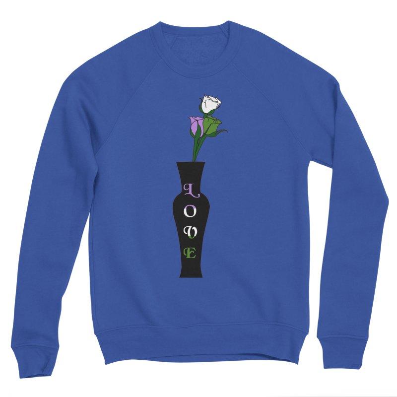 Genderqueer Pride Roses Men's Sweatshirt by Artistfire Studios