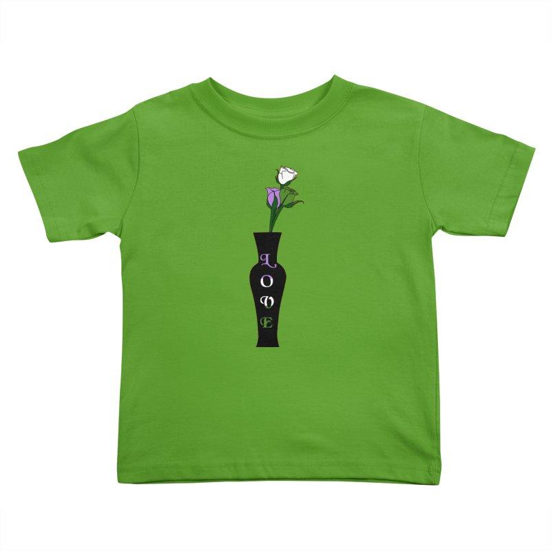 Genderqueer Pride Roses Kids Toddler T-Shirt by Artistfire Studios