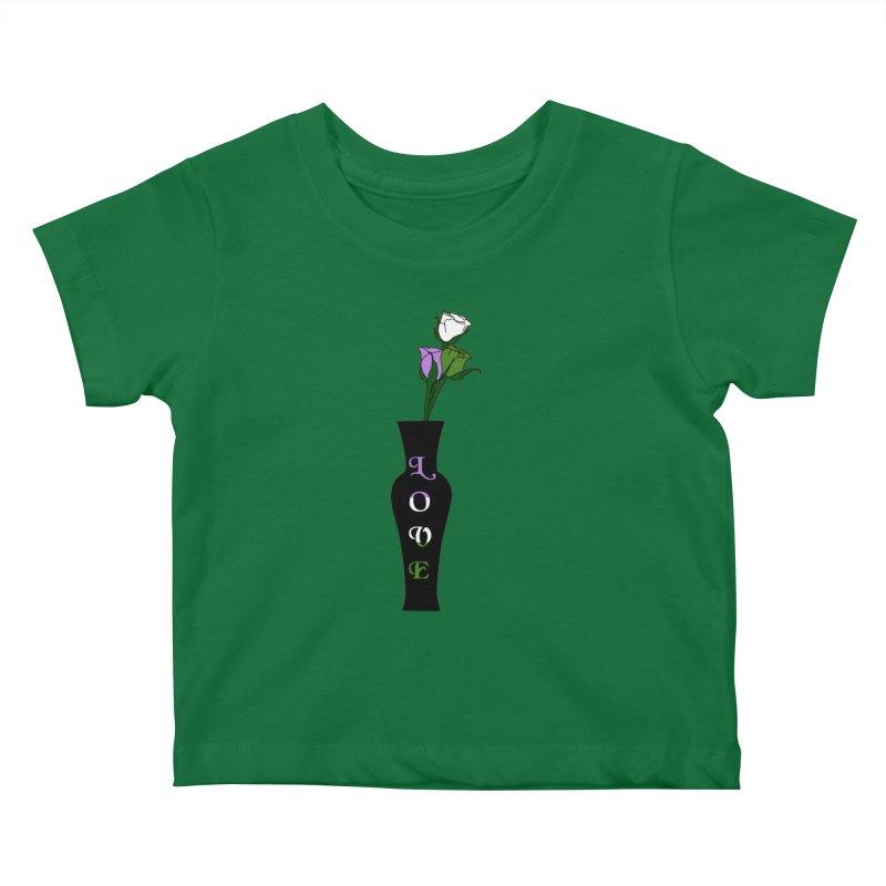 Genderqueer Pride Roses Kids Baby T-Shirt by Artistfire Studios
