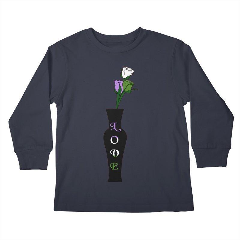 Genderqueer Pride Roses Kids Longsleeve T-Shirt by Artistfire Studios