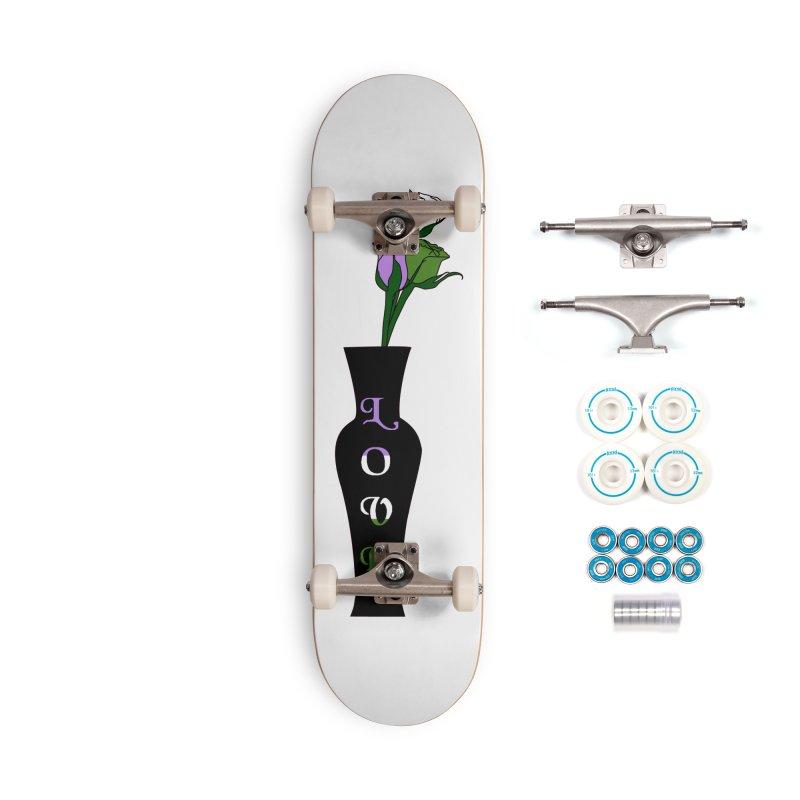 Genderqueer Pride Roses Accessories Skateboard by Artistfire Studios