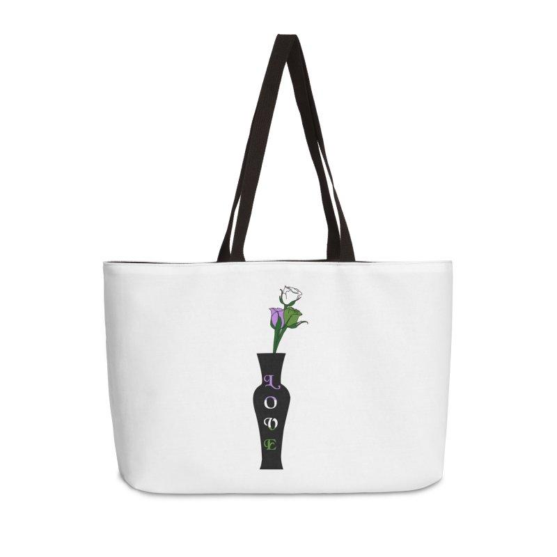 Genderqueer Pride Roses Accessories Bag by Artistfire Studios