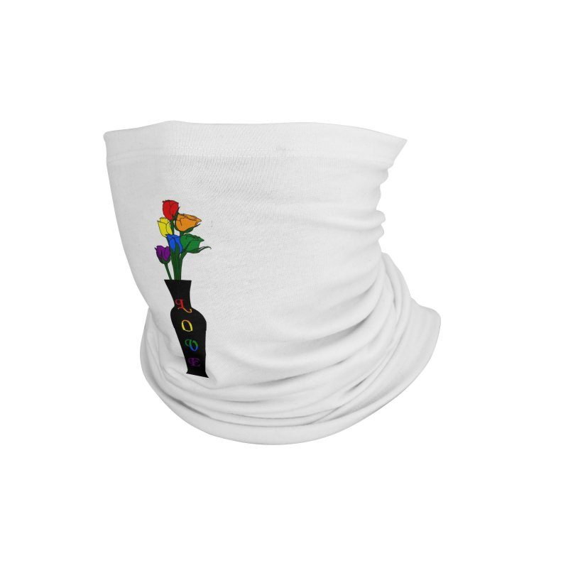 LGBTQ Pride Roses Accessories Neck Gaiter by Artistfire Studios