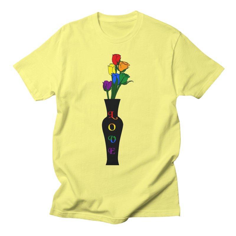 LGBTQ Pride Roses Men's T-Shirt by Artistfire Studios