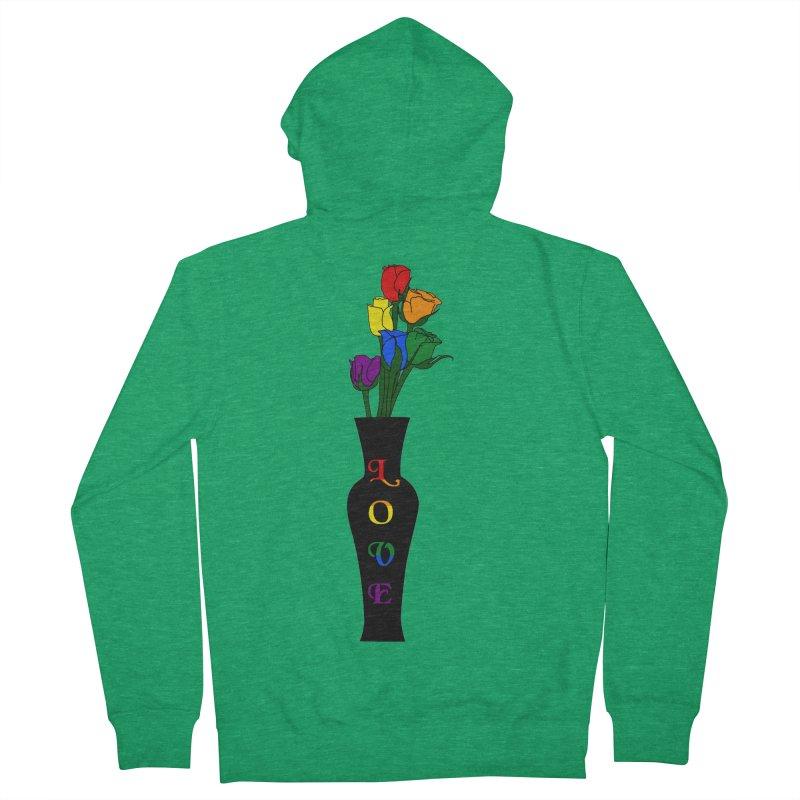 LGBTQ Pride Roses Women's Zip-Up Hoody by Artistfire Studios