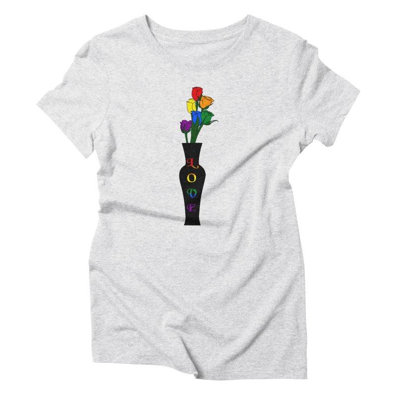 LGBTQ Pride Roses Women's T-Shirt by Artistfire Studios