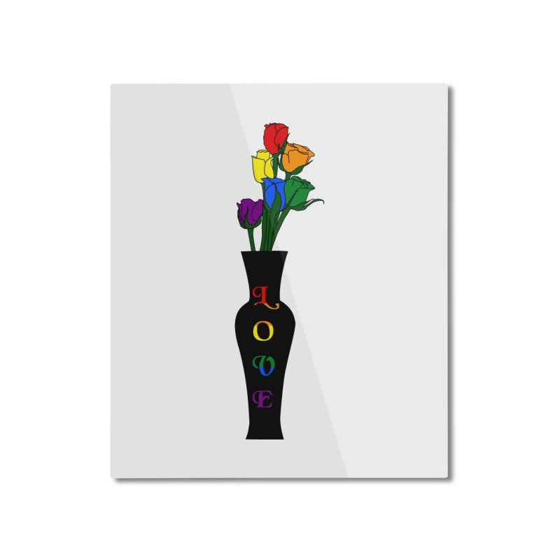 LGBTQ Pride Roses Home Mounted Aluminum Print by Artistfire Studios