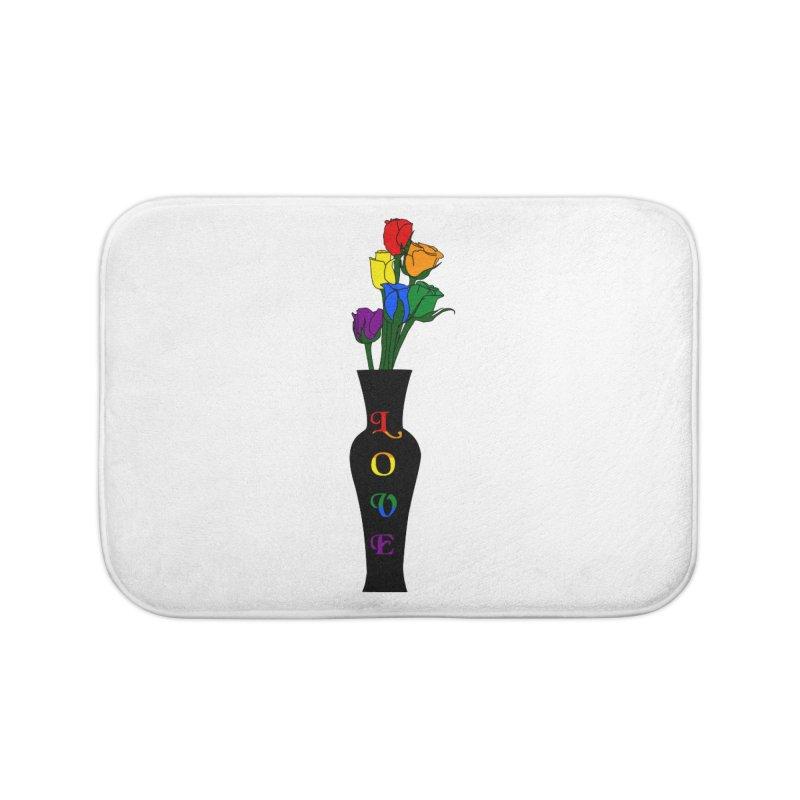 LGBTQ Pride Roses Home Bath Mat by Artistfire Studios