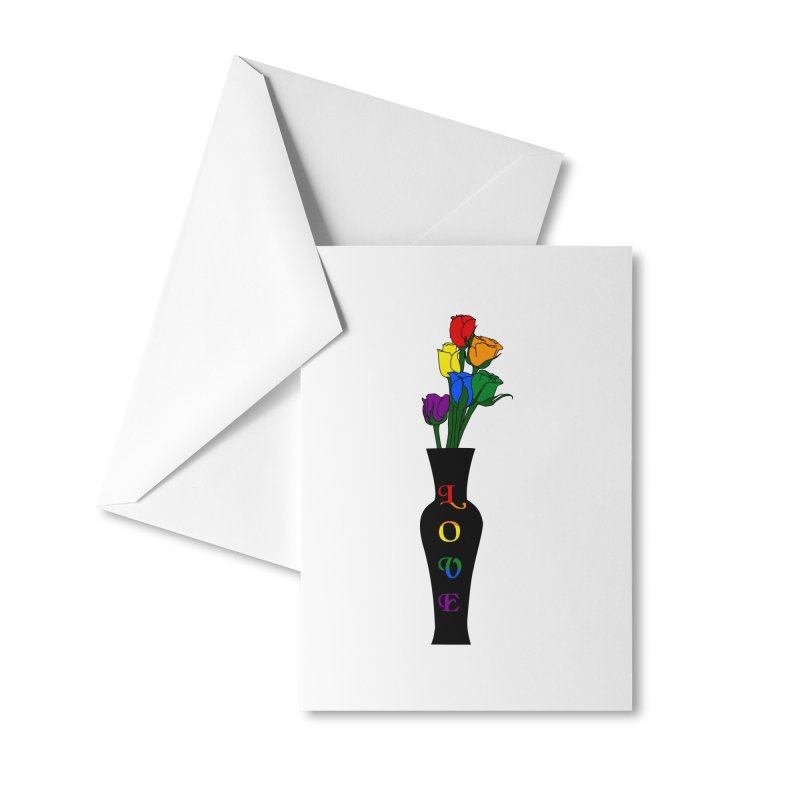LGBTQ Pride Roses Accessories Greeting Card by Artistfire Studios