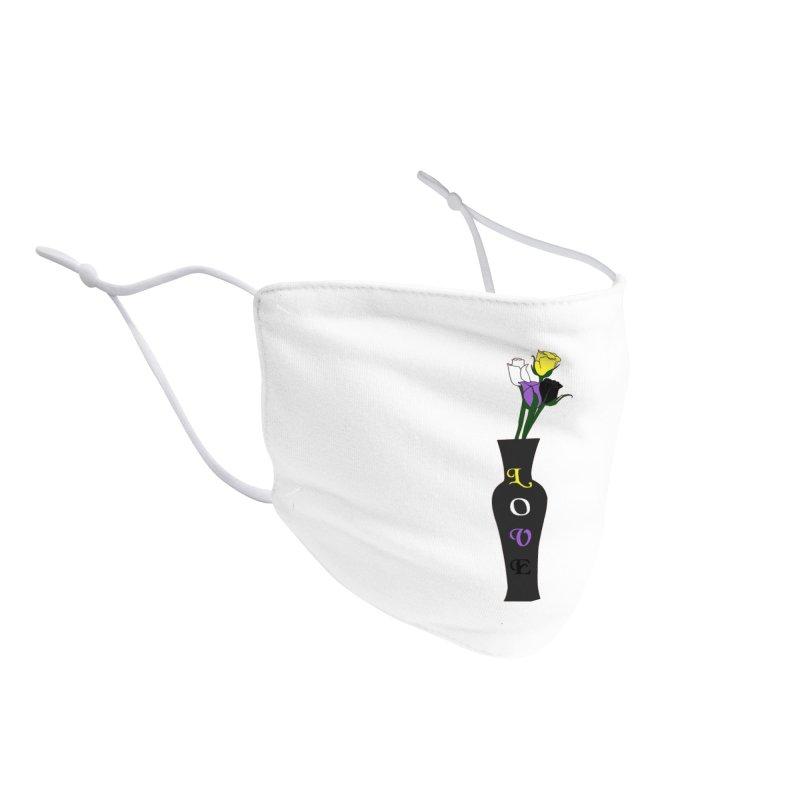 Non-Binary Pride Roses Accessories Face Mask by Artistfire Studios