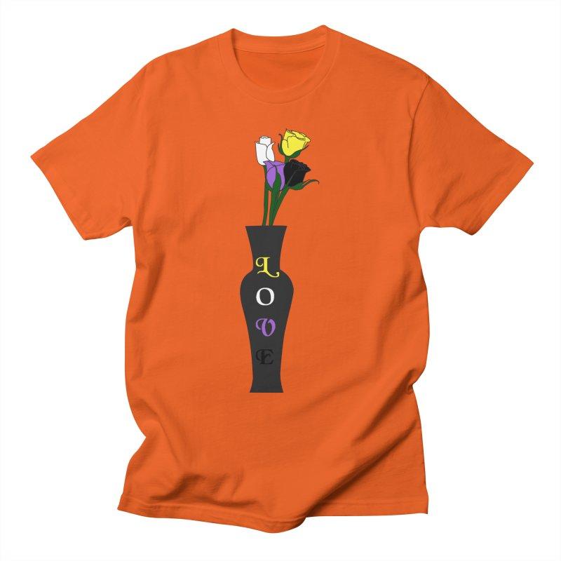 Non-Binary Pride Roses Men's T-Shirt by Artistfire Studios